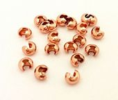 HALF PRICE! Rose Gold Colour 3mm Crimp Covers